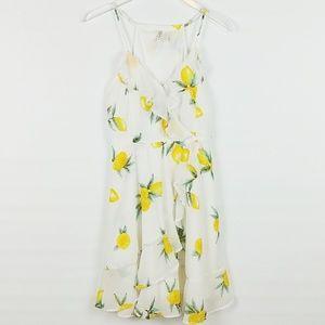 Japna | Faux Wrap Lemon Dress